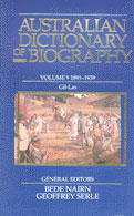 Australian Dictionary of Biography Vol. 9, 1891-1939 by Judith M. Brown